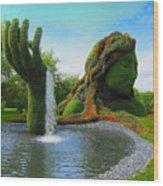 Corey Rockafeler - Mother Nature Fountain Wood Print