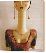 Corfu Lady Wood Print