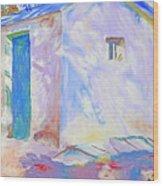 Corfu  Lights And Shadows Wood Print