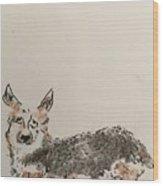 Corgi Wood Print