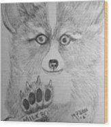 Corgi Pup Wood Print