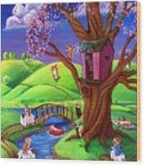Corgis Bodacious Spring Fling Wood Print