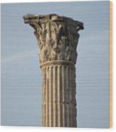 Corinthian Columns At The Roman Forum Wood Print