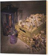 Cork Basket Candle Lamp Wood Print