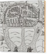 Cork, County Cork, Ireland In 1633 Wood Print