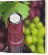 Cork Of Wine Bottle  Wood Print by Anna Om