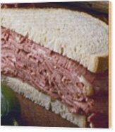 Corn Beef Sandwich Wood Print