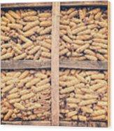 Corn For Winter Wood Print