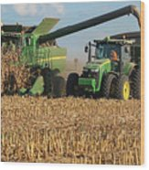Corn Harvest Wood Print