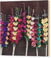 Corn Husk Flowers Wood Print