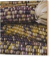 Corn Kernals Wood Print