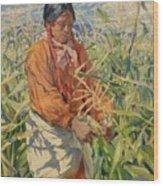 Corn Picker 1915 Wood Print