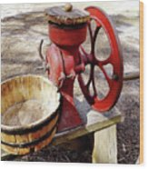 Corn Sheller Wood Print
