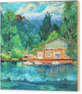 Cornell Boathouse Wood Print