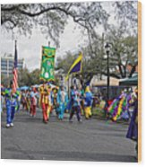 Corner Club 4 - Mardi Gras New Orleans Wood Print