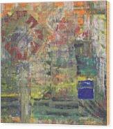 Corner Deli Wood Print