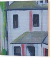 Corner House On Staten Island Wood Print
