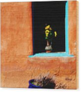 Corner In Santa Fe Nm Wood Print