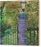 Corner Lantern Wood Print