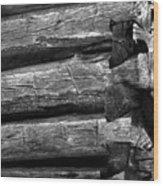 Corner-logs Wood Print