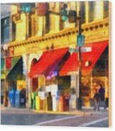 Corner Of Center And Merchant Rutland Vt Wood Print