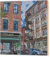 Corner Of Dietz And Main Oneonta Ny Wood Print