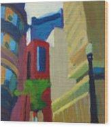 Corner Of Oliver Street, Boston Wood Print