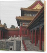 Corner Of The Forbidden City Wood Print