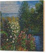 Corner Of The Garden At Montgeron Wood Print
