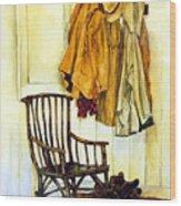 Corner Of The House Wood Print