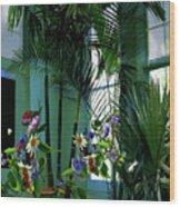 Corner Office, Key West, Fl Wood Print