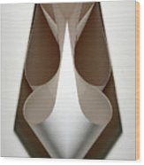 Cornered Curves Wood Print