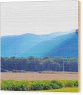Cornfield On Bright Autumn Day 3 Wood Print