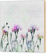 Cornflowers Watercolor  Wood Print
