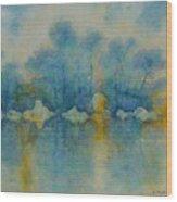 Cornish Blue Wood Print