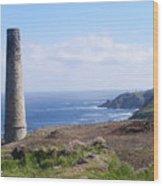 Cornish Mine Wood Print