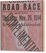 Corona Road Race 1914 Wood Print