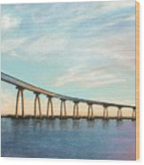 Coronado Bridge Sunset A Wood Print
