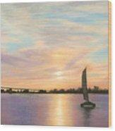 Coronado Bridge Sunset  B Wood Print