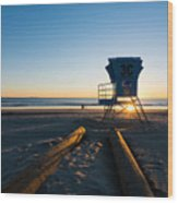 Coronado Lifeguard Station Wood Print