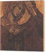 Coronation Of The Virgin 1311 Wood Print