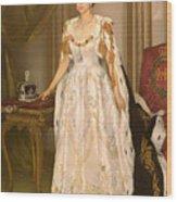 Coronation Portrait Of Queen Elizabeth II Of The United Kingdom Wood Print