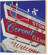 Coronet Cleaners Wood Print
