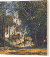 Corot - The Mill Wood Print