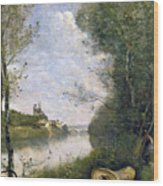 Corot: Cathedral, C1855-60 Wood Print