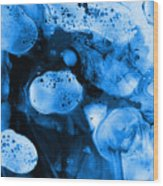 Corporalis Blue Wood Print