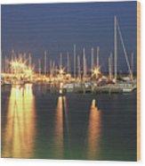 Corpus Christi Marina Wood Print