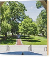Corr Hall Walkway Wood Print