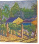 Corrales Vinyard Wood Print