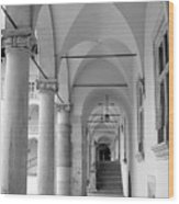 Corridor In Wawel Wood Print